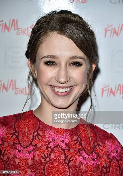 Taissa Farmiga attends the 'The Final Girls' TIFF party at America Trump Tower Toronto Hosted By Ciroc on September 19 2015 in Toronto Canada