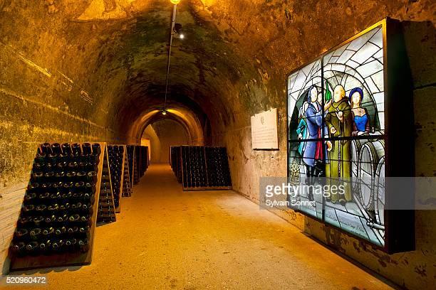 Taittinger champagne cellar, France