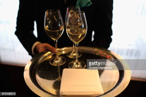 Taittinger champagne served during Harper's BAZAAR 150th Anniversary Event presented with Tiffany Co at The Rainbow Room on April 19 2017 in New York...