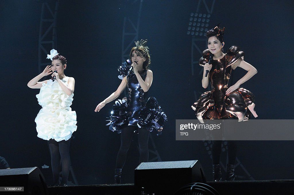 Taiwan girl group S.H.E at '2_GETHER_4EVER' 2013 world tour concert on Saturday July 06,2013 in Hong Kong,China.