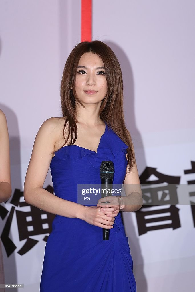 Taiwan girl group S.H.E (Hebe) at press conference to promote concert 'TOGETHER FOREVER WORLD TOUR' on Thursday March 28,2013 in Taipei Taiwan,China.