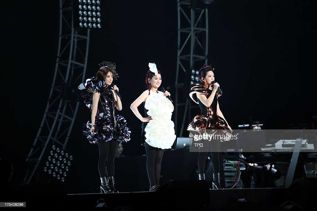 Taiwan girl group S.H.E held concert at Mercedes-Benz Arena on Saturday July 13,2013 in Shanghai,China.