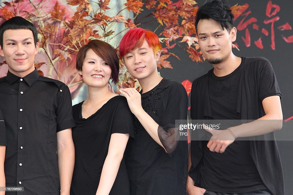 Taiwan pop group Sodagreen promotes their coming album on Sunday August 25,2013 in Taipei,China.