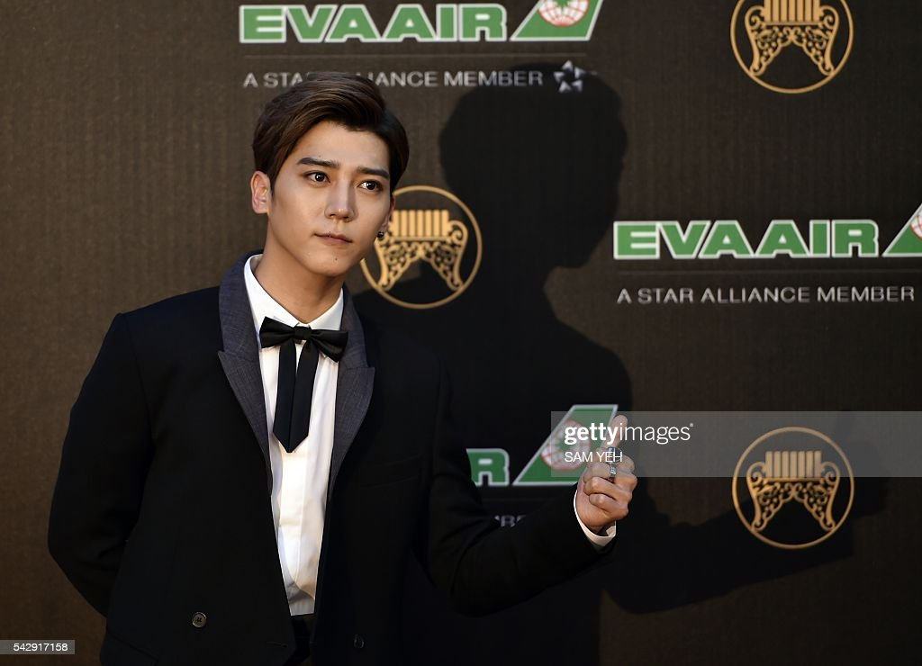 Taiwan pop singer Bii arrives to attend the 27th Golden Melody Awards in Taipei on June 25, 2016. Some of Mandarin pop's biggest names have gathered for the annual Golden Melody music awards, with singers, songwriters and composers from Taiwan, China, Hong Kong, Singapore and Malaysia competing in more than 20 categories. / AFP / SAM YEH