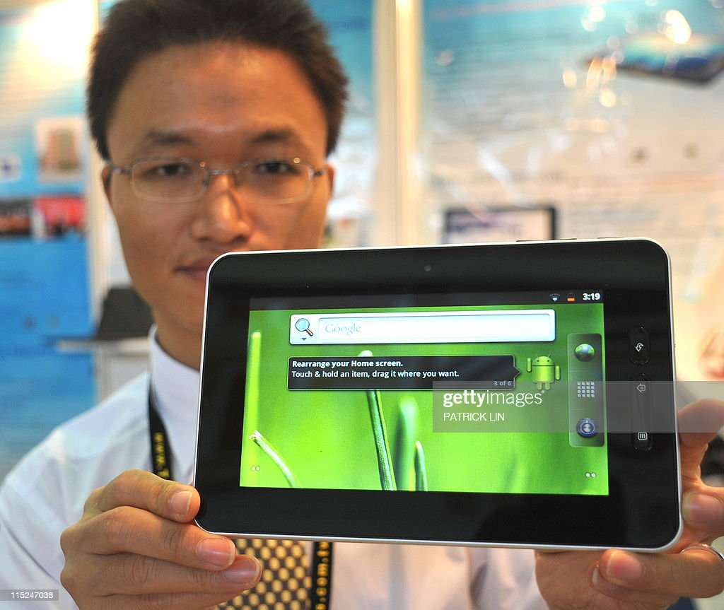 Taiwan-China-IT-technology,FOCUS by Benjamin Yeh A Chinese-made, but Taiwan-designed tablet is displayed at Computex in Taipei on June 3, 2011. More Chinese companies than ever before took part in Asia's largest IT fair, which ended this weekend in Taipei, but their growing numbers could not disguise their lingering weaknesses, observers say.