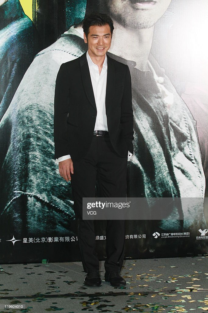 Taiwanese actor <a gi-track='captionPersonalityLinkClicked' href=/galleries/search?phrase=Takeshi+Kaneshiro&family=editorial&specificpeople=171924 ng-click='$event.stopPropagation()'>Takeshi Kaneshiro</a> attends 'Wu Xia' movie premiere on July 26, 2011 in Hong Kong, China.