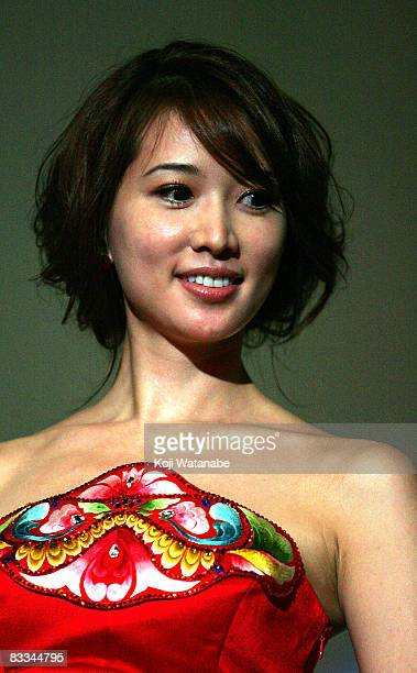 Taiwanese actress Chiling Lin attends the 2008 Tokyo China Cinema Week Opening Ceremony at Mediage on October 19 2008 in Tokyo Japan