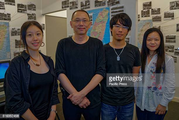 ISLAND SYDNEY NSW AUSTRALIA Taiwanese artist Yao Jui Chung and the Lost Society Document team members at Carriageworks Embassy of Disappearance...
