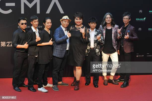 Taiwanese band Gina's Can arrives to attend the 28th Golden Melody Awards in Taipei on June 24 2017 Some of Mandarin pop's biggest names have...