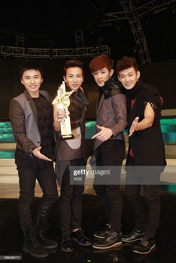 Taiwanese boy band Lollipop F attend the 2012 Jade Solid Gold Best Ten Music Awards Presentation at TVB City on January 13, 2013 in Hong Kong, Hong Kong.