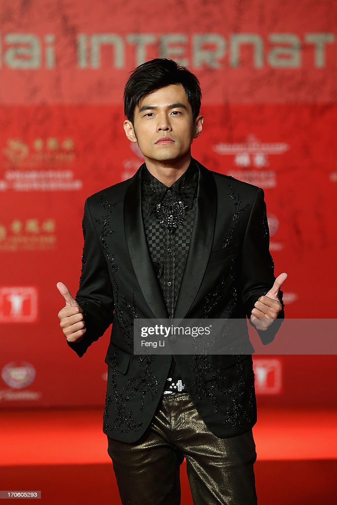 Taiwanese singer, actor and director <a gi-track='captionPersonalityLinkClicked' href=/galleries/search?phrase=Jay+Chou&family=editorial&specificpeople=697028 ng-click='$event.stopPropagation()'>Jay Chou</a> arrives at the opening ceremony of the 16th Shanghai International Film Festival at Shanghai Culture Square on June 15, 2013 in Shanghai, China.
