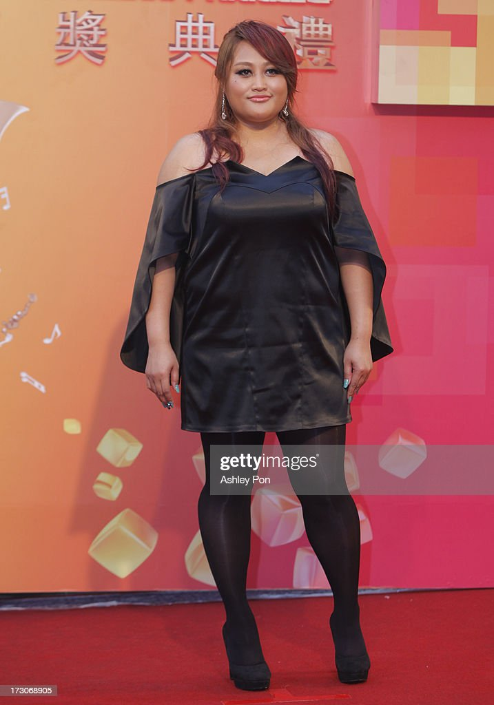 Taiwanese singer JiaJia arrives at the 24th Golden Melody Awards on July 6 2013 in Taipei Taiwan JiaJia is nominated as Best Female Mandarin Singer...