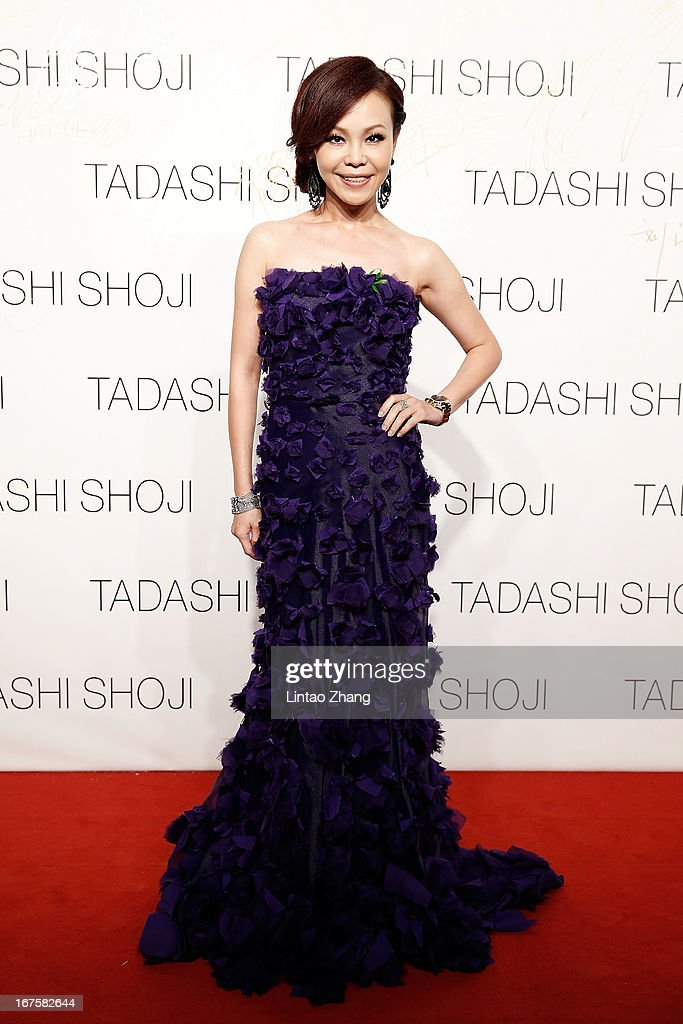 Taiwanese singer Julia attends the Tadashi Shoji Beijing Store Grand Opening at Beijing Parkview Green on April 26, 2013 in Beijing, China.
