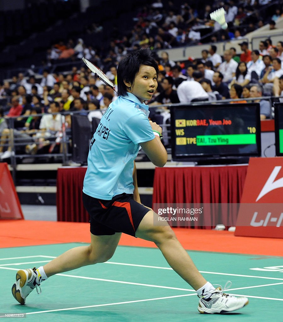 Taiwan s Tai Tzu Ying plays against Sout