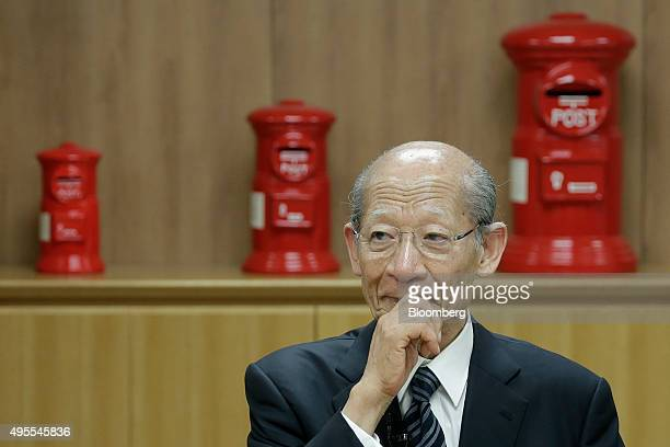 Taizo Nishimuro president of Japan Post Holdings Co pauses during an interview at the company's headquarters in Tokyo Japan on Monday Nov 2 2015...