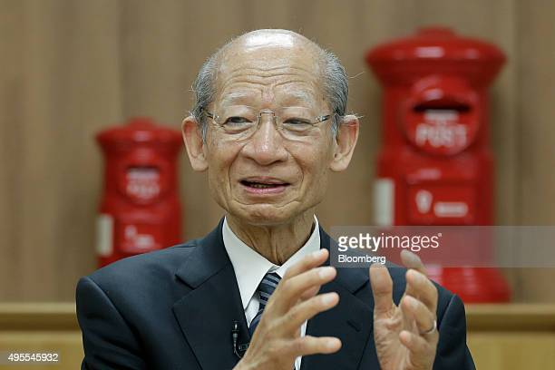 Taizo Nishimuro president of Japan Post Holdings Co speaks during an interview at the company's headquarters in Tokyo Japan on Monday Nov 2 2015...