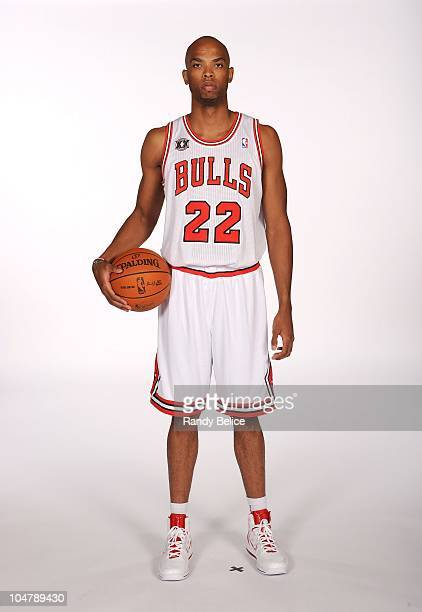 Taj Gibson of the Chicago Bulls poses for a picture during the Chicago Bulls 201011 Media Day on September 27 2010 at the Sheri L Berto Center in...