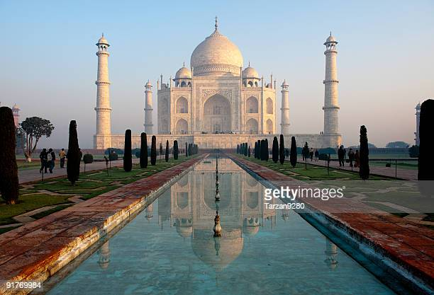 Taj Mahal and its reflection in pool
