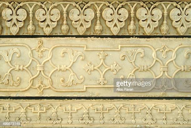 Taj Mahal, detail of the marble decorations
