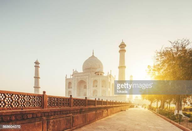 Taj Mahal in sunset light, Agra, India