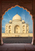The Taj Mahal is an ivory-white marble mausoleum on the south bank of the Yamuna river in the Indian city of Agra, Uttar Pradesh, India.
