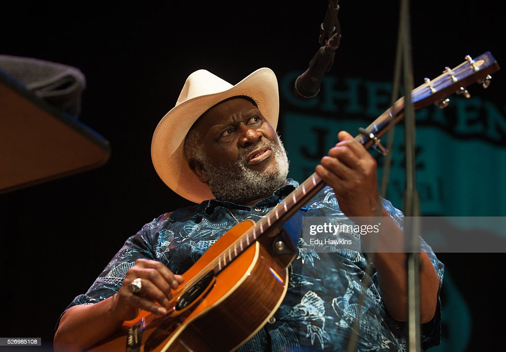 Taj Mahal performs live on stage at the Cheltenham Jazz Festival on May 1, 2016 in Cheltenham, England.