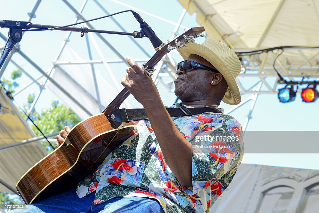 Taj Mahal performs on stage on Day 4 of Waterfront Blues Festival at Tom McCall Waterfront Park on July 7, 2013 in Portland, Oregon.