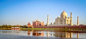 Taj Mahal - mausoleum at Agra in northern India, a UNESCO World Heritage Site