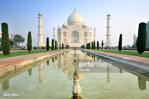 Taj Mahal sunrise with reflection