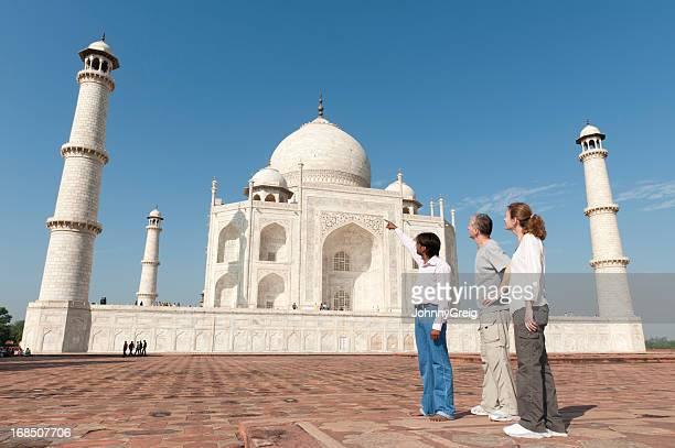 Taj Mahal - Tourists with Guide