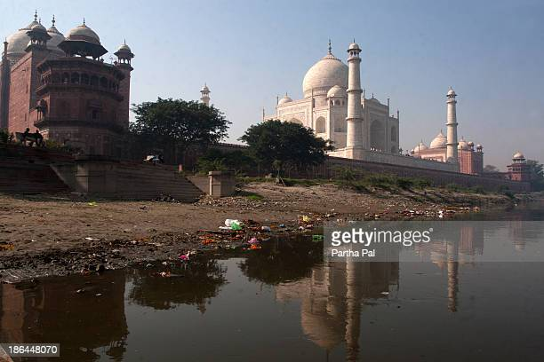 Taj Mahal,at the bank of Yamuna River.