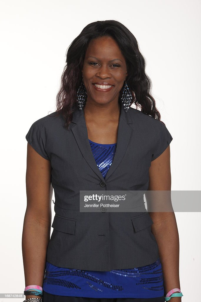 Taj McWilliams-Franklin assistant coach of the New York Liberty poses for a photo during WNBA Media Day on May 13, 2013 at the Madison Square Garden Training Facility in Tarrytown, New York.