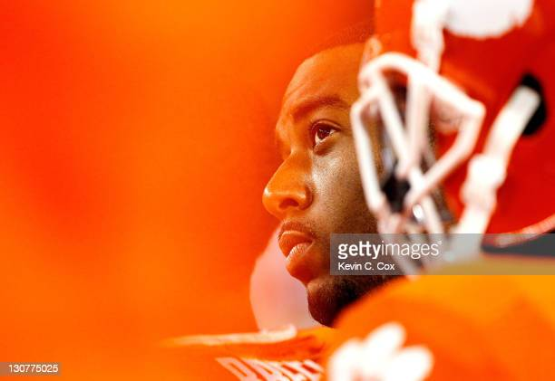 Tajh Boyd of the Clemson Tigers reacts in the final seconds of their 3117 loss to the Georgia Tech Yellow Jackets at Bobby Dodd Stadium on October 29...