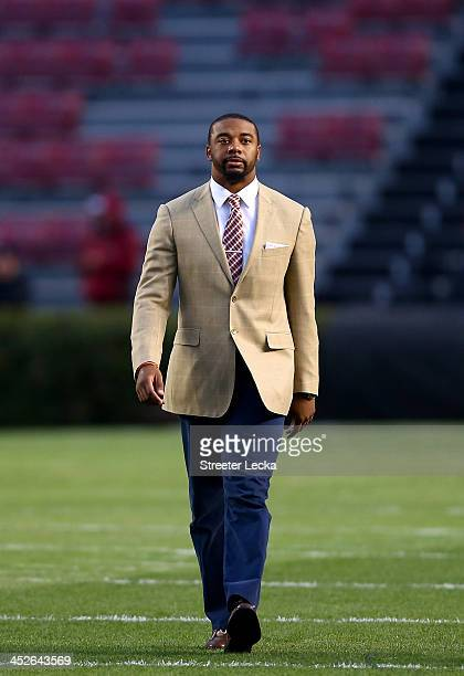 Tajh Boyd of the Clemson Tigers walks the field before their game against the South Carolina Gamecocks at WilliamsBrice Stadium on November 30 2013...