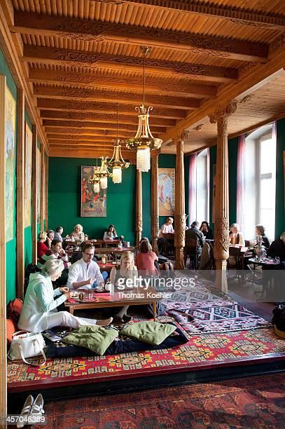 Tajik tearoom on April 25 in Berlin Germany Photo by Thomas Koehler/Photothek via Getty Images