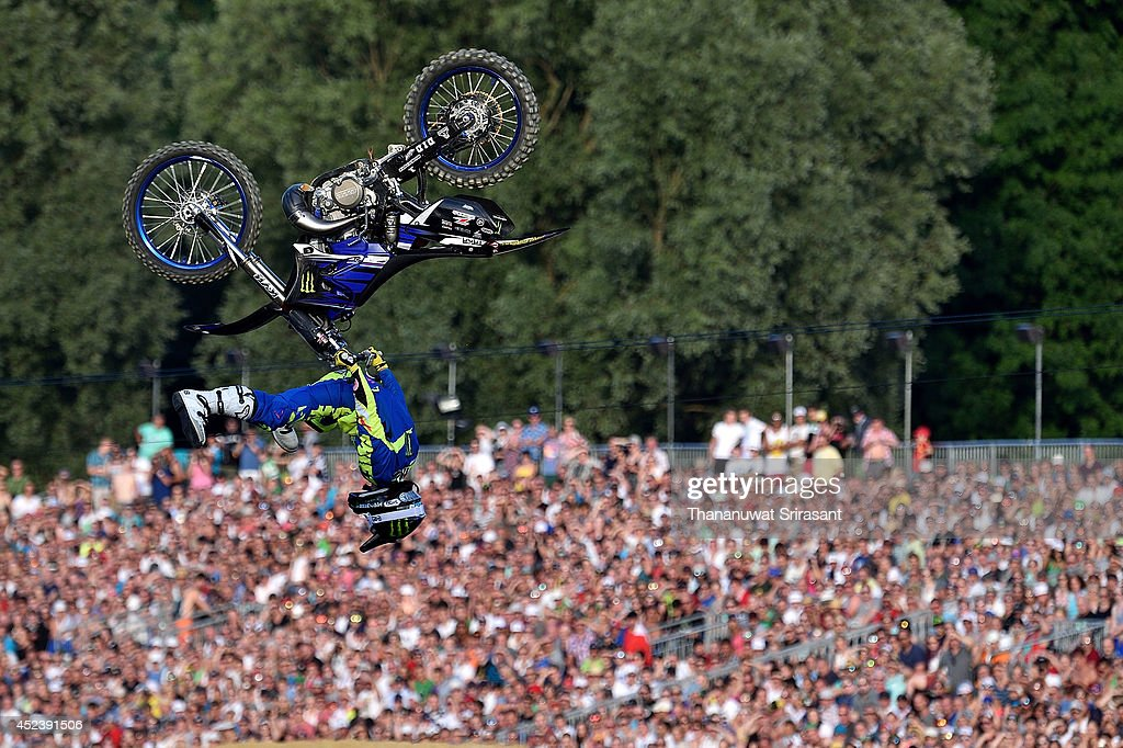 Taka Higashino competes during final round for the Red Bull XFighters World Tour on July 19 2014 in Munich Germany