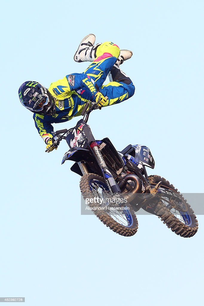Taka Higashino of Japan in action during the Red Bull XFighters World Tour at the Munich Olympic Park on July 19 2014 in Munich Germany