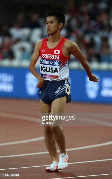 Takafumi Igusa competes in Men's 800m T38 Round 1 Heat 3 during IPC World Para Athletics Championships at London Stadium in London on July 14 2017