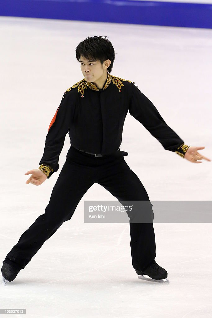 Takahiko Kozuka competes in the Men's Free Program during day two of the 81st Japan Figure Skating Championships at Makomanai Sekisui Heim Ice Arena on December 22, 2012 in Sapporo, Japan.