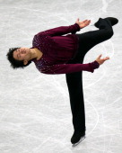 Takahiko Kozuka competes in the Men's Singles Free Program during the 82nd All Japan Figure Skating Championships at Saitama Super Arena on December...
