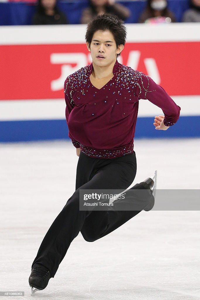 Takahiko Kozuka of Japan competes in the Men's Free Skating during ISU World Figure Skating Championships at Saitama Super Arena on March 28, 2014 in Saitama, Japan.