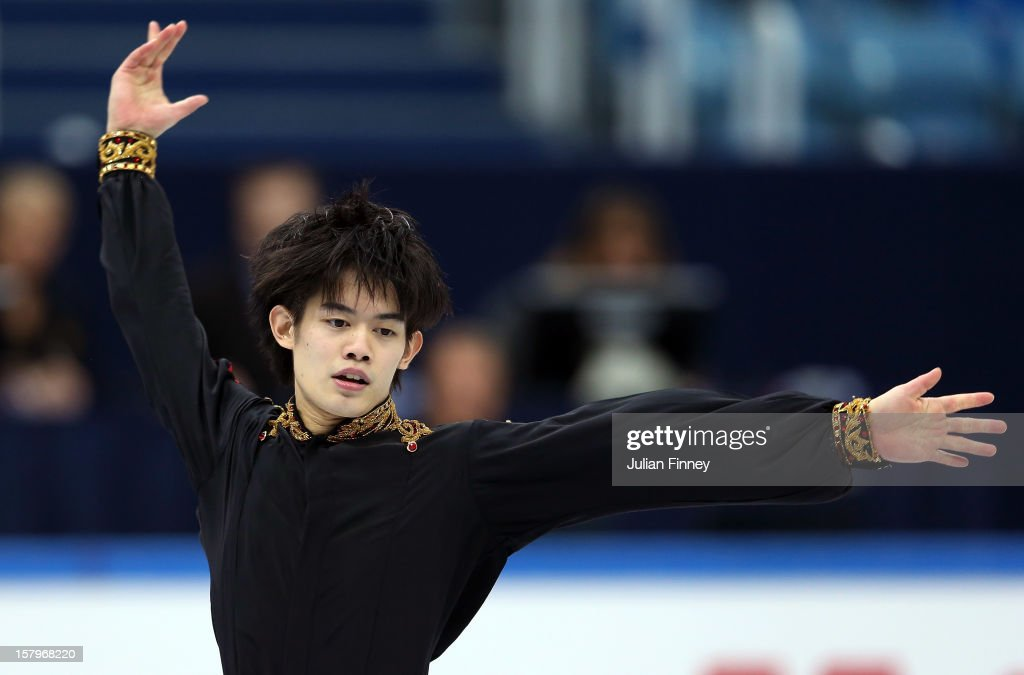 Takahiko Kozuka of Japan performs in the Mens Free Skating during the Grand Prix of Figure Skating Final 2012 at the Iceberg Skating Palace on December 8, 2012 in Sochi, Russia.