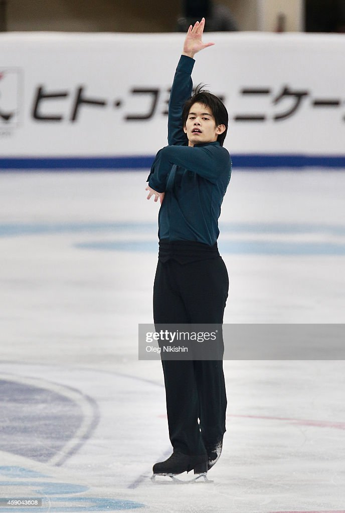 <a gi-track='captionPersonalityLinkClicked' href=/galleries/search?phrase=Takahiko+Kozuka&family=editorial&specificpeople=686867 ng-click='$event.stopPropagation()'>Takahiko Kozuka</a> of Japan skates in the Men's Free Skate during the ISU Rostelecom Cup of Figure Skating 2014 on November 15, 2014 in Moscow, Russia.
