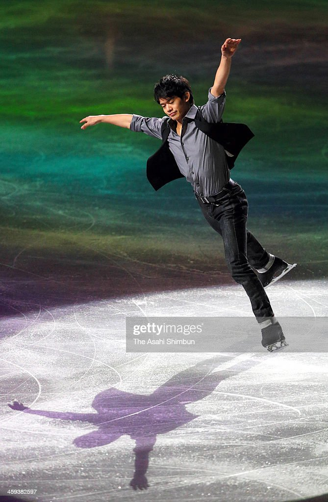 Takahiko Kozuka performs during the gala exhibition during day four of the 82nd All Japan Figure Skating Championships at Saitama Super Arena on December 24, 2013 in Saitama, Japan.