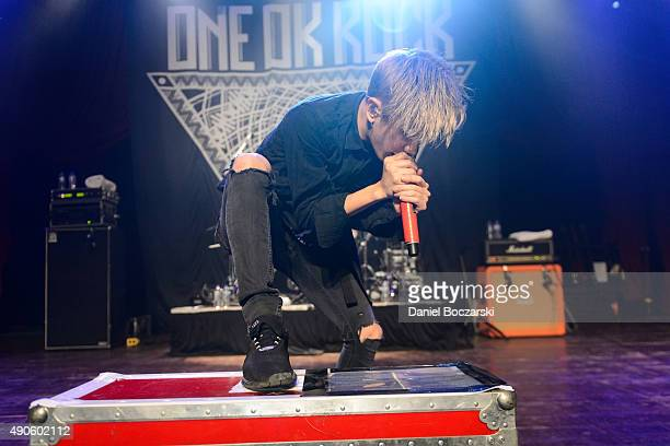 Takahiro Moriuchi of One Ok Rock performs at House Of Blues Chicago on September 29 2015 in Chicago Illinois