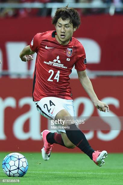 Takahiro Sekine of Urawa Red Diamonds competes for the ball during the AFC Champions League Group F match between Urawa Red Diamonds and Western...