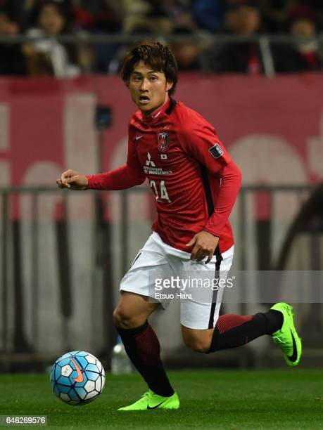 Takahiro Sekine of Urawa Red Diamonds in action during the AFC Champions League match Group F match between Urawa Red Diamonds and FC Seoul at...