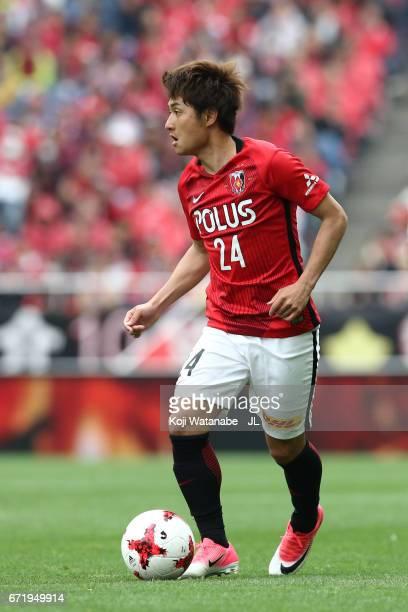 Takahiro Sekine of Urawa Red Diamonds in action during the JLeague J1 match between Urawa Red Diamonds and Consadole Sapporo at Saitama Stadium on...