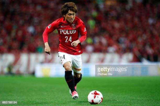 Takahiro SEKINE of Urawa Red Diamonds reats during the JLeague J1 match between Urawa Red Diamonds and Vegalta Sendai at Saitama Stadium on April 7...