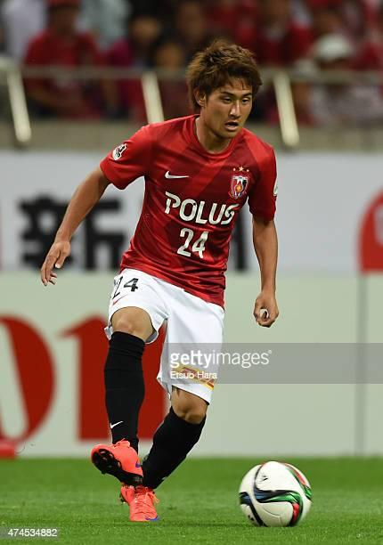 Takahiro Sekine of Urawa Reds in action during the JLeague match between Urawa Red Diamonds and Kashima Antleres at Saitama Stadium on May 23 2015 in...